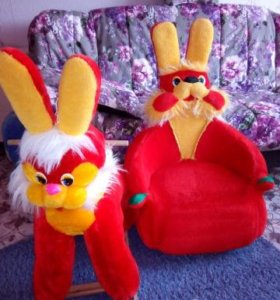 Качалка заяц+кресло заяц