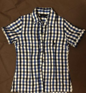 Рубашка женская с коротким рукавом M