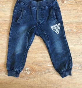 Детские утеплённые джинсы
