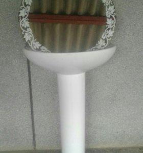 Раковина тюльпан с зеркалом