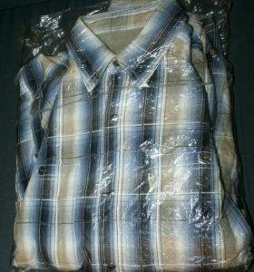 НОВАЯ зимняя джинсовая рубашка