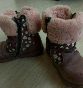 Ботинки детские зимние, состояние на 3ку