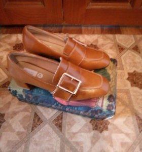 Туфли светлокоричневого цвета демисезон