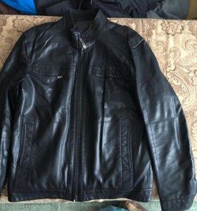Куртка прессованная кожа