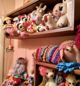 Вязанные куклы .