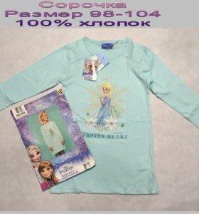 Сорочка для девочки размер 98-104 новая