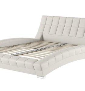 Кровать дизайнерская из экокожи