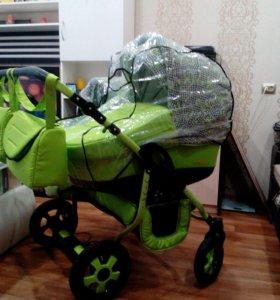 """Модульная коляска для двойни Polmobil """"Viva"""" 2 в 1"""