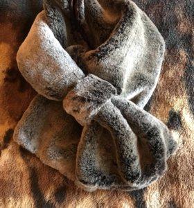 Меховой шарф воротник