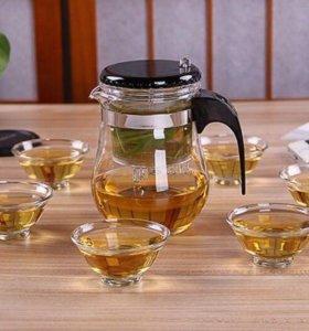 💛Набор чашки и чайник 🔥