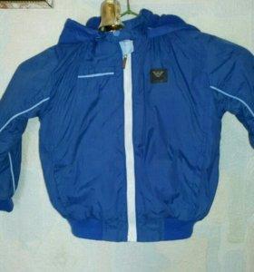 Курточка на осень/весну на флисе размер 80-92