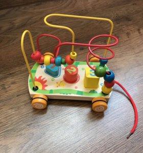 Деревянная игрушка Лабиринт-сортер Mapacha