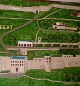Барельефный макет крепости Нарын-Кала