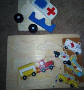 Деревянные развивашки,и резиновые игрушки...