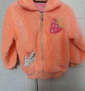 Курточка на флисе 3-5 лет