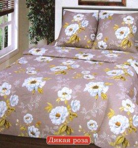 """Комплект постельного белья """"Дикая роза"""" Бязь."""