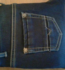 Новые джинсы, на флисе , размер 44-46