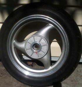Новое колесо на скутер 90*90*12