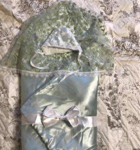 Комплект на выписку( одеяло+шапочка)