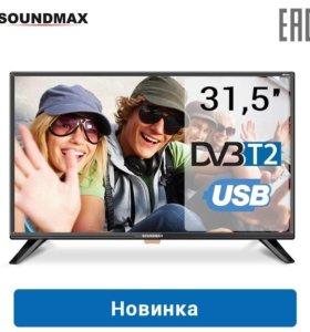 Жк телевизор 32 (81 см) с Т2, новый