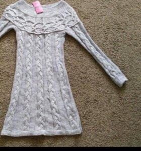 Платье новое вязаное. разм46-48