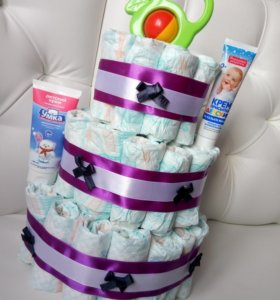 Тортик из памперсов