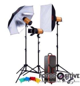 Мобильная фотостудия 3 вспышки