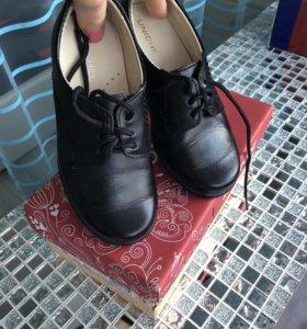Туфли на мальчика( натуральная кожа)