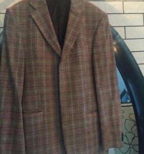 Пиджак - пальто  в клетку Gristian Berg stockholm.