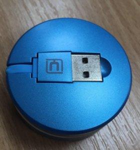 Кабель для зарядки iPhone/Android устройств 2 в 1