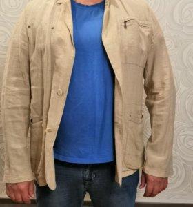 Продаю пиджак льняной, размер ближе к 58