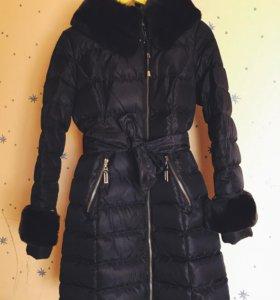 Пуховик куртка натуральный мех