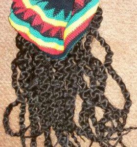 Нигерская шапка с шевелюрой