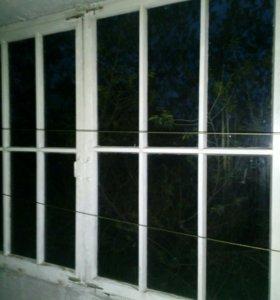 Рамы оконные деревянные со стеклом