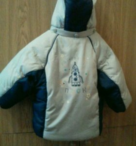 Зимняя теплая куртка на синтепоне на рост 80-86 см