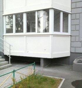 Балконная рама пластиковая.