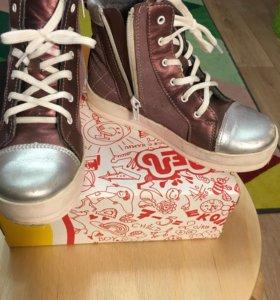 Кожаные ботинки-кеды Лель 31 размер