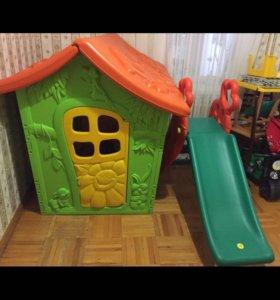 Детский домик и горка