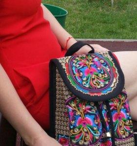 Яркий стильный рюкзак+рюкзак Этно в подарок
