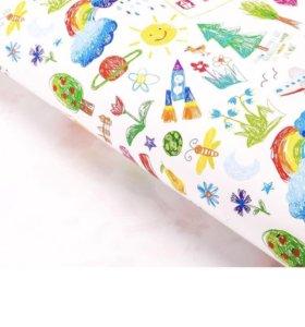 Глянцевая упаковочная бумага «Детские рисунки»