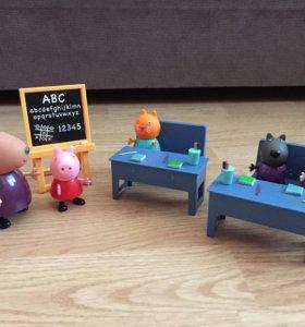 Набор свинка Пеппа играем в школу