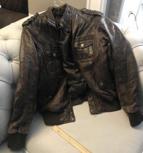 Кожаная куртка, натуральная кожа Redskins (Франция