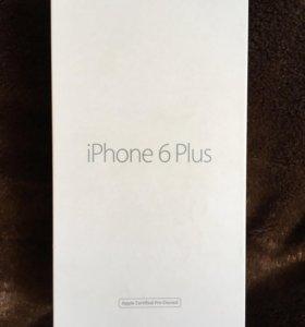 Продам коробку от айфон 6+ серебреного цвета