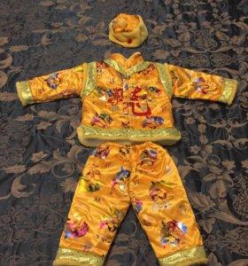 Осенний костюмчик, утеплённый. На 1,5-2,5 года.