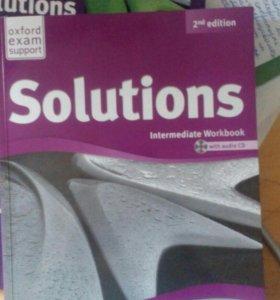 Учебник и тетрадь solutions intermidiate
