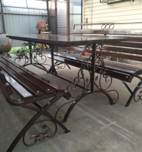 Садовая мебель лавочки и стол