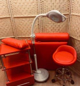 Кушетка, Лампа,стул, Тележка-Набором