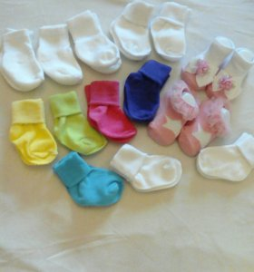 Носочки на новорожденных