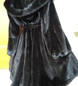 Черная норковая шуба полушубок
