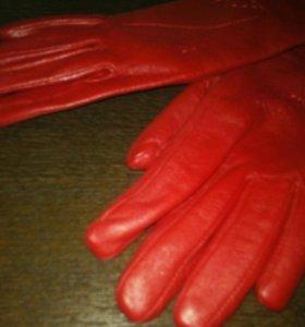 Перчатки женские,кожаные,р-р 7